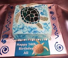 Turtle cake by Vicki, www.birthdaycakes4free.