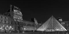 The Louvre Pyramid - Paris (redheadzr) Tags: paris night pyramid louvre