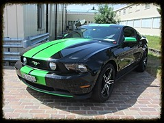 Ford Mustang GT 5.0 2012 (v8dub) Tags: auto classic ford car schweiz switzerland automobile suisse muscle 5 automotive voiture pony american mustang gt collector 2012 wagen pkw klassik bleienbach worldcars