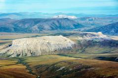 Flying over tundra in Alaska (ExceptEuropa) Tags: travel sky terrain usa mountain nature alaska plane landscape photography earth sony flight roadtrip aerial research fieldtrip tundra traveler sonynex