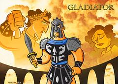 POSTAGEM (carter_daniel86) Tags: wallpaper cinema drawing medieval desenho gladiator gladiador