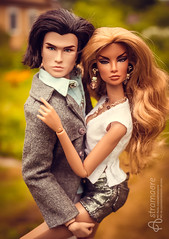 Tony and Angelica (astramaore) Tags: blue white green love beauty silver hair glamour eyes couple outdoor body pair tan handsome tony blouse jeans jacket passion natalia chic tilda lovestory wavy affair thick brazen tanned manero brisby