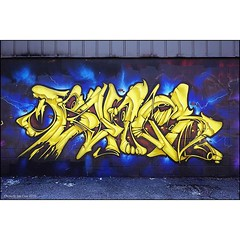 The work of #Bones of the #FUAkrew caught my eye in upstate #NewYork recently & this piece is no exception. Lots more @fuakrew89 talent to come, this crew have style.#Wallkandy #graffiti #art #painting #streetart #publicart #fromupabove #fb #f @therailrat (Photos © Ian Cox - Wallkandy.net) Tags: street streetart newyork art canon ian photography graffiti gallery rochester document cox 2015 wallkandy fuacrew bonesfua