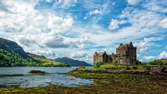 Eilean Donan Castle (Tidyshow) Tags: eilean donan castle sea loch dornie sky clouds cloudscape shore beautiful scottish scotland stunning hills sony a77 tamron