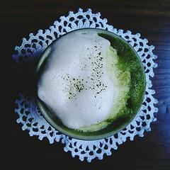 matcha latte (Tetere Barcelona) Tags: tearoom latte matcha greentea latteart maccha teteria   japanesetea   greentealatte matchalatte teaart  teteriabarcelona japanesetealatte tetereria teahousebarcelona