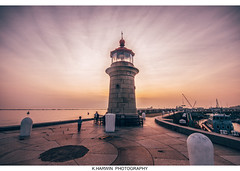 ____\\_I_//_____ (Kevin HARWIN) Tags: lighthouse sky blue red sunset people sae water sand beach ramsgate kent uk england thanet south east boats canon eos 70d 1020mm lens sigma