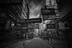 Mongkok ([~Bryan~]) Tags: mongkok kowloon hongkong crowd street signs shops people ndfilter bw daytimelongexposure longexposure city urban bryanleung time monochrome