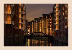 St. Annen Brücke, Hamburg, Germany (PhotoChampions) Tags: stannenbrücke wandrahmsfleet speicherstadt hamburg unesco unescoweltkulturerbe fleet nightshot night urban nocturnal longexposure deutschland