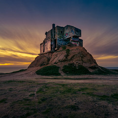 Devil's Slide Bunker (Juan Pablo J.) Tags: devils slide tunnel sunset seascape sony sonya68 pacifica landmark sky sundown outdoors ocaso