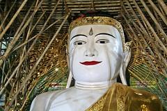 Mandalay - Sagaing Hill - Sone Oo Pone Nya Shin Paya - Buddha Image (zorro1945) Tags: soneooponenyashinpaya sagaing sagainghill mandalay myanmar burma asia asie paya pagoda temple buddhisttemple buddhism image buddhaimage smilingbuddha buddha