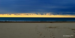 Clouds' Blanket (martinasirena) Tags: clouds dark sunrise morning jesolo beach sand sky sea seafront colors lights