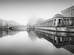Berlin Cathedral | Berlin, Germany 2017 (philippdase) Tags: berlin berlincathedral berlinerdom blackandwhite bnw bridge longexposure formatthitech fineart firecrest foggy philippdase pentaxk1 pentax spreeriver water winter