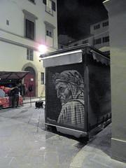 goodnight dante (kexi) Tags: florence firenze florencja italy europe toscany tuscany vertical night graffiti dante street samsung wb690 november 2015 instantfave