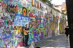 Prague - John Lennon Wall (Ellsasha) Tags: johnlennon prague streetart graffiti centraleurope czechrepublic streets painting