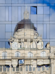 Graceful Reflection (Rupert Brun) Tags: liverpool pierhead pier head three 3 graces threegraces 3graces portofliverpool port building architecture reflection window dome reflected explored