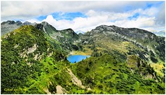 Pano dalla Cima di Doia (arno18☮) Tags: alzasca laghetto doia ticino suisse switzerland maggia vergeletto onsernone camana locarnese water clouds nature landscape lake green withe tree 2016 nikon greenscene