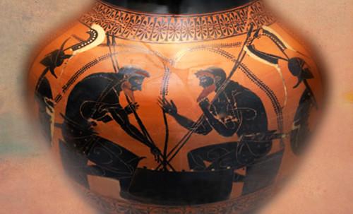 "Petteia - Ludus Latrunculorum  / Iconografía de las civilizaciones helenolatinas • <a style=""font-size:0.8em;"" href=""http://www.flickr.com/photos/30735181@N00/32522204445/"" target=""_blank"">View on Flickr</a>"