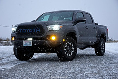 Snowy Tacoma (kendrawaters) Tags: toyota tacoma snow winter blacktop