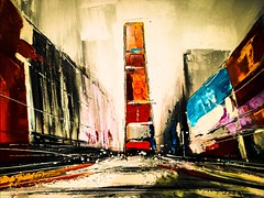 City as abstract (Thad Zajdowicz) Tags: wallart abstract painting art contemporary city shapes lines angles colors zajdowicz pasadena california cellphone photoshopexpress availablelight motorola droid turbo smartphone cameraphone android mobile indoor inside composition