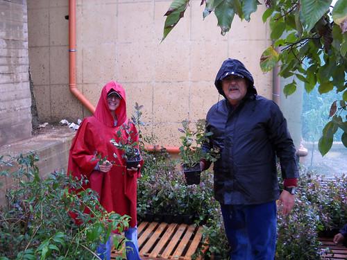 Talal & Sara checking plants at Nursery b Dec 10, 2012