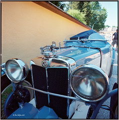 MG in blue_Hasselblad (ksadjina) Tags: 6x6 film analog scan c41 hasselblad500cm kodakportra400 silverfast nikonsupercoolscan9000ed carlzeissdistagon40mmf14 gaisbergrace2015