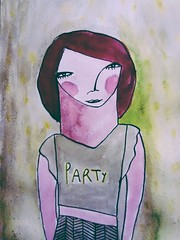 Party t-shirt. We all have one! (ceciliasantanach) Tags: party art ink watercolor artist gallery drawing doodle doodles draw acuarela dibujo childrenillustration