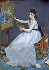 douard Manet - Eva Gonzales at the easel [1870] (petrus.agricola) Tags: portrait london eva gallery national easel manet the douard gonzals
