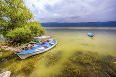 Gölyazi (Apolyont), Bursa (Nejdet Duzen) Tags: trip travel lake reflection turkey boat fishing türkiye sandal bursa göl yansıma turkei seyahat uluabatlake apolyont gölyazı uluabatgölü balıkçılı