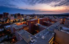 Factor (blakesimpson_photo) Tags: blue clouds buildings landscape losangeles cityscape ucla hour westwood