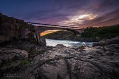 The Bridge - Iceland, Dalabyggð (SteinaMatt) Tags: sunset west matt photography iceland midnight ísland steinunn ljósmyndun steina vesturland dalir fellsströnd flekkudalsá matthíasdóttir dalabyggð steinamatt