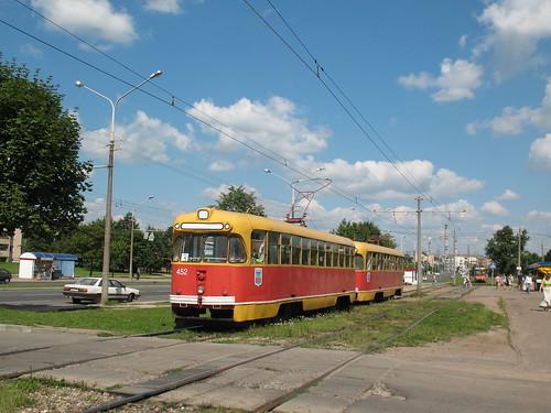 Belarus, Minsk tram RVZ-6M2 452+418