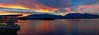 Coal Harbor Sunset Panorama (picxpressions) Tags: ocean sunset canadaplace coalharbor vancouvertrip