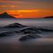 sunset haukland - norway