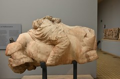 Colossal statue of a Persian rider on a rearing horse, from the Mausoleum at Halicarnassus, ca. 350 BCE (2) (Prof. Mortel) Tags: london mausoleum britishmuseum halicarnassus