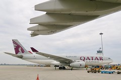Qatar Airways Cargo A330-200F A7-AFZ parked at SGN/VVTS (Jaws300) Tags: a330200 saigon a300600 cargo freighter freight qatar apron vvts gate tansonnhatinternationalairport tan son tansonnhat a306 ramp airways a330f a330 a7afz sgn airbus vietnam tansonnhatairport a300 a330200f hochimincity