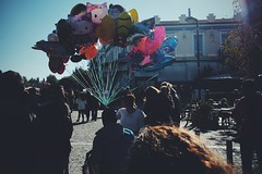 Balloon head (Kostas Katsouris) Tags: sunday sun people metro street urban head xt10 fuji greece athens walk colours turtle teenage balloon