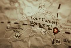 Four Corners Monument....HMM!!! (Joe Hengel) Tags: macromondays macro happymacromonday macromonday map fourcornersmonument corner corners