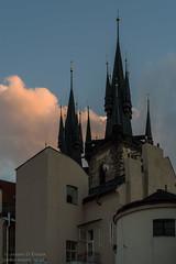 Church of Our Lady before Týn (James D Evans - Architectural Photographer) Tags: chrámmatkybožípředtýnem churchofourladybeforetýn sunset architecture church czechrepublic prague praha religion spires