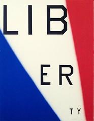 """ Liberty "" 2011 by Ed Ruscha  / Pop Art (lalek72.popart) Tags: liberty edruscha artprint fineart art popart popartculture popartworld supportforfrance flag"