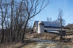 Dirt Road (Flapweb) Tags: hinesburg vermont barn silo