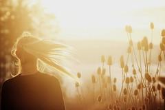 """you make me smile like the sun"" (big fat grey cat) Tags: sun goldenhour hairflip hair girl sunset"