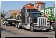 "Peterbilt 389 ""TMC"" (uslovig) Tags: peterbilt 389 tmc des moins iowa 92515 ta flatbed trailer flachbett auflieger 80 truckstop world greatest welt gröster walcott usa truck lkw lorry camion lastwagen lastkraftwagen laster conventional hauber"