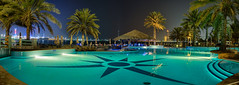 Abu Dhabi Nights - By the pool (Karsten Gieselmann) Tags: 1240mmf28 blau em5markii farbe grün hdr mzuiko microfourthirds olympus panorama private reise snshdr strand türkis blue color green kgiesel m43 mft travel turquoise