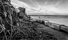 Amble . (wayman2011) Tags: fujifilmxt10 lightroom wayman2011 bw mono coast seascapes harbours lobsterpots ropes northumberland amble uk
