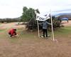 003 Setting Up Finish In The Wind (saschmitz_earthlink_net) Tags: 2017 california orienteering vasquezrocks aguadulce losangelescounty laoc losangelesorienteeringclub