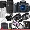 Canon EOS Rebel T4i 18.0 MP CMOS Digital SLR with 18-55mm EF-S IS II Lens & Canon 75-300 Lens + 58mm 2x Telephoto lens + 58mm Wide Angle Lens (4 Lens Kit!!!!!!) W/32GB SDHC Memory+ 2 Extra Batteries + Charger + 3 Piece Filter Kit + UV Filter + Full Size T (goodies2get2) Tags: amazoncom bestsellers canon giftideas mostwishedfor toprated