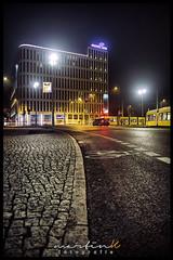 Motel One (Krueger_Martin) Tags: olympuszuiko24mmf28 olympus zuiko 24mm weitwinkel wideangle festbrennweite primelense clarajaschkestrase berlin tram strasenbahn traffic verkehr city stadt urban light lights licht langzeitbelichtung architecture architektur motel motelone hdr photomatix