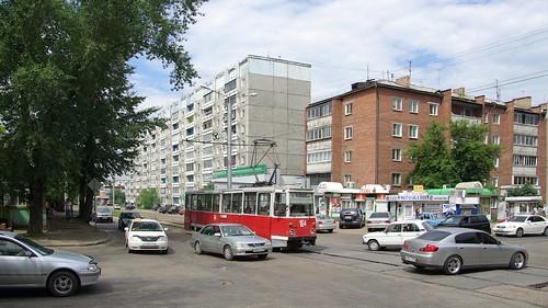 Irkutsk tram 71-605 164 ©  trolleway