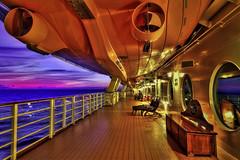 Colorful Dream (NYRBlue94) Tags: disney dream sunset dusk twilight color colors ship sail bahamas atlantic ocean hdr blue pink purple