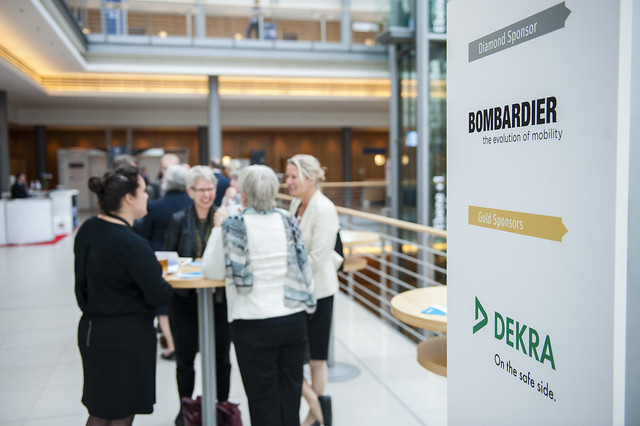 Sponsors Bombardier Transportation DEKRA on display at the 2015 Exhibition